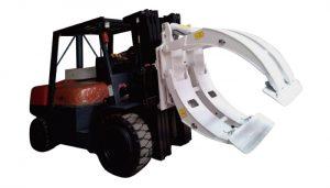Heftruck hulpstukken 360 rotatie enkele arm papierrolklemmen