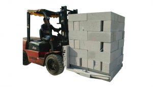 Hydraulische heftruck Betonbakstenen Hijsklem