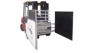 Kartonklem voor vorkheftruck, vorkheftruckbevestiging Kartonklem, Kartonhandler.