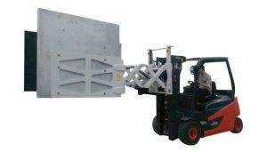 Heftruck elektronische huishoudapparatuur papieren kartonnen klemmen