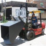 3 ton Hyundai Diesel heftruck aanbouwdeel Scharnierende vork en emmer